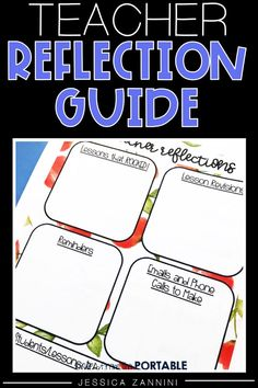 Take a few minutes each to to keep organized in your classroom with this teacher reflection guide.  A great way to keep up with all the things and make the best decisions for your classroom.