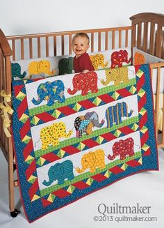 Pattern: Elephants on Parade.  I adore this.  Not sure I know anyone who could make it, though....