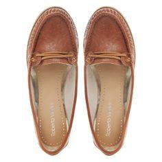 Roberto Vianni Tan laced detail boat shoe- at Debenhams.com