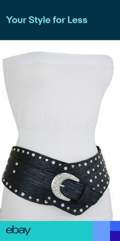 Women Trendy Gold Metal Chain Belt Big Bling Heart Love Buckle Plus Size M L XL