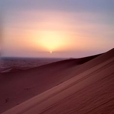 Sunset at Sahara Desert... God's gift after two days travelling through the Moroccan countryside.