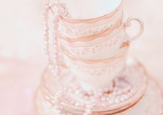 Imagem de pearls, cup, and pink