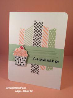 Cupcake Party, Stampin' Up!, Sweet Sadie, Birthday Card