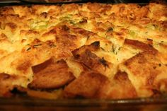 leek bread pudding...just in time for fall and #thanksgiving side dishes