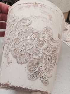diy shabby chic flower pots tutorial, crafts, gardening, home decor, how to, repurposing upcycling, shabby chic