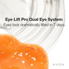 ANEW CLINICAL EYE LIFT PRO DUAL EYE SYSTEM: The only two-in-one system for a complete eye lift and for anyone wishing to help treat or prevent the telltale signs of aging. Formulated with injectable-grade Arginine* gel to diminish the look of sagging and visibly lift the upper eye while the caffeine-infused cream reduces dark circles and de-puffs the under eye. #Avon #Anew #skincare