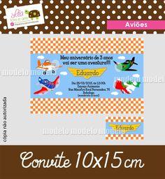 Convite (10x15cm). A