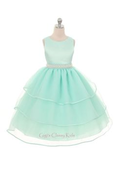 1a50c6f49347 New Flower Girl Mint Green Dress Wedding Pageant Party Christmas Formal  Wedding