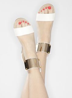Kira Sandalia Blanco grupo, zapatos o pisos en estilo de Tyra AB (SAN18r)