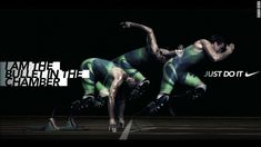 """Backfire! Pistorius appears in an advertisement for Nike with the unfortunate slogan """"I am the bullet in the chamber."""" The image appeared on Pistorius' offical website, but has now been removed."""