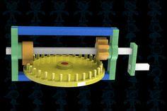 Leonardo Da Vinci's Reversing Mechanism - STEP / IGES,SOLIDWORKS,Parasolid - 3D CAD model - GrabCAD
