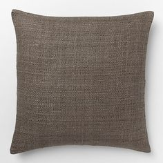 Silk Hand-Loomed Pillow Cover - Mocha | west elm
