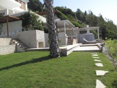 Grass 5 meters from the sea Vision Board Template, Grass, Villa, Patio, Sea, Outdoor Decor, Home, Grasses, Ad Home