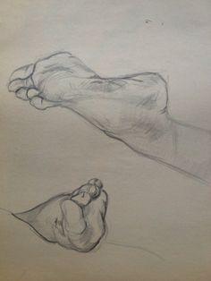 Foot Studies - Figure Drawing
