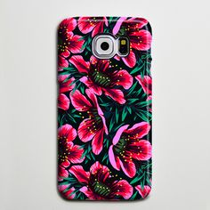 Pink Chic Floral Galaxy s6 Edge Plus Case Galaxy s6 s5 Case Samsung Galaxy Note 5 4 3 Phone Case s6-sw01