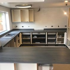 """Midland Worktop Fitters on Instagram: """"Installation of Apollo Slabtech from #sheridanworktops in Marmo Mare Gris. Seamless joints, up stands fitted and we also routered out…"""" Work Tops, Apollo, Kitchen Cabinets, Tech, Instagram, Home Decor, Technology, Interior Design, Home Interior Design"""