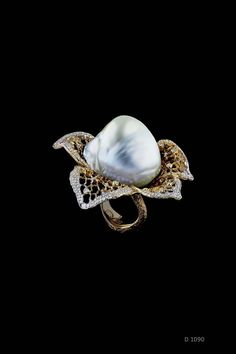 Jewellery Theatre Autumn ring contains 463 small diamonds and one 17.32gr Baroque pearl (£58,500).