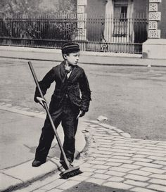 Charles Spurgeon's LondonersCrossing Sweeper (& News Boy) – Clarence St, Greenwich. Charles Spurgeon the Younger, son of the Evangelist Charles Haddon Spurgeon, took over the South St Baptist Chapel in Greenwich in the eighteen-eighties and commissioned an unknown photographer to make lantern slides of the working people of Greenwich that he could use in his preaching. circa 1884 - 1887