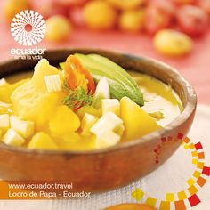 "El Locro de papa, un regalo de #EcuadorPotenciaTuristica para el mundo. Míra su preparación aquí http://www.ecuador.travel/que-hacer/gastronomia/sierra/pichincha/317-locro-de-papas  The ""Locro de papa"", the Ecuadorian gift to the world. Want to know the preparation clic here: http://www.ecuador.travel/que-hacer/gastronomia/sierra/pichincha/317-locro-de-papas"