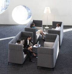 Haven High Back Lounge designed by Mark Gabbertas for Allermuir. Available through Zenith.