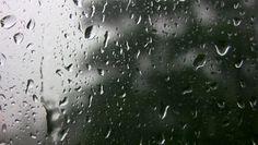Rain running down window. - HD stock video clip