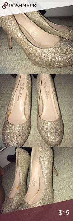 Sparkly Heels Wore these once for a homecoming! Like new De Blossom Collection Shoes Heels
