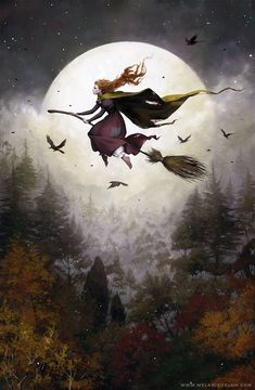 Halloween Art by Melanie Delon 🎃 Halloween Images, Halloween Art, Vintage Halloween, Happy Halloween Pictures, Halloween Witches, Fantasy Kunst, Fantasy Art, Melanie Delon, Images Esthétiques