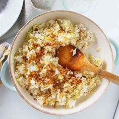 Leek and ginger fried rice