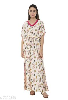 Nightdress Fomti Satin Night Wear Kaftaans for Women's Fabric: Satin Sleeve Length: Short Sleeves Pattern: Printed Multipack: 1 Sizes: Free Size (Bust Size: 44 in Length Size: 60 in)  Country of Origin: India Sizes Available: Free Size, L, XL, XXL, XXXL, 4XL, 5XL   Catalog Rating: ★4.2 (5483)  Catalog Name: Inaaya Alluring Women Nightdresses CatalogID_1298722 C76-SC1044 Code: 182-7900840-998