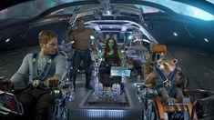 The Guardians: Star-Lord (Chris Pratt), Drax (Dave Bautista), Gamora (Zoe Saldana), Groot (Vin Diesel), and Rocket (Bradley Cooper). Star Lord, Chris Pratt, Captain Marvel, Future Marvel Movies, Marvel Films, Marvel Heroes, Marvel Dc, Marvel Comics, Loki