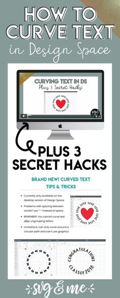 BRAND NEW: 3 Curved Text Secret Hacks for Design Space Curved text is a brand NEW feature added to Design Space and this is the best tutorial I've found on it! It teaches the basics of how to curve text in design space for beginners plus 3 secret hacks on Cricut Air 2, Cricut Help, Cricut Vinyl, How To Use Cricut, Lego Design, Cricut Design, Good Tutorials, Cricut Tutorials, Cricut Ideas