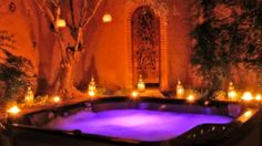 I must have a super romantic outdoor jacuzzi area just like this!!