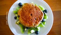 Oasis Urbano BA, Pancakes de avena y banana con arándanos (vegan /veganos)