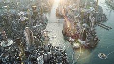 Sci-fi city concept by Luis De la Barrera-Montenegro.