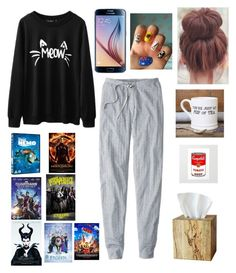 """sick day (I'm super sick)"" by haileym5sos ❤ liked on Polyvore featuring Disney, Selamat Designs and Dot & Bo"