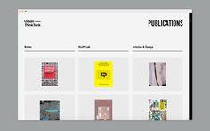 Urban-Think Tank's website - Website design for Urban-Think Tank. Programming by A-P & Co - Design Ios, Resume Design, Interface Design, Grid Web Design, Graphic Design, Print Design, Website Design Layout, Web Layout, Layout Design