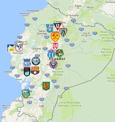 2021 Ecuadorian Serie A Map Fauna, Sports Logo, South America, Soccer, Club, Jeeps, Logos, Maps, Hs Sports