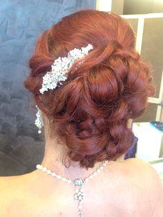 #wedding  #up-do #vintage style #hairstyle #saloninternational #2392613899
