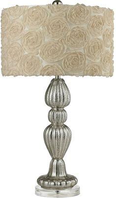 0-010846>1-Light 3-Way LED Table Lamp Silver Mercury