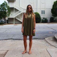 Lilian Dress - Olive