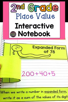 Need place value interactive notebook pages for second grade? Includes a page or more for each Grade 2 Common Core Place Value Math Standard: Place and Value, Base Ten Blocks, Base Ten Equivalencies, Base Ten Model, Expanded Form, Word Form, Ways to Represent Numbers, Skip Counting, Comparing Numbers, Ordering Numbers.