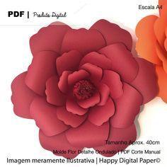 Molde de Pétalas para Criar Flores Gigantes | Pétala com detalhe ondulado
