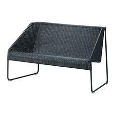 IKEA - VIKTIGT, Zitbank, Meubels van natuurvezels zijn lichtgewicht, maar ook stevig en duurzaam.Kunststof doppen beschermen de vloer tegen krassen.Fraaie, kleine zitbank die ook op een beperkte ruimte tot zijn recht komt.