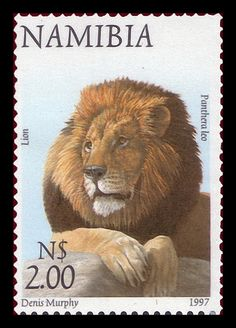 Namibia 1997 Animal definitive $2 Lion / Panthera leo