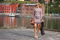 Argyle Print Dress Michael Kors - Perfect for pregnant women Blog: www.fotballfrue.no