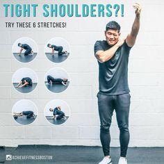 back pain advice Post Workout Stretches, Back Pain Exercises, Stretching Exercises, Gym Workouts, At Home Workouts, Shoulder Mobility Exercises, Shoulder Rehab, Shoulder Joint, Preparation Physique