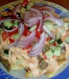 Hungarian Recipes, Hungarian Food, Pasta Salad, Potato Salad, Hamburger, Bacon, Potatoes, Ethnic Recipes, Drink