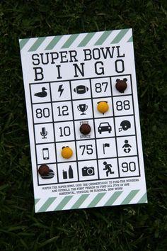 Super Bowl Free Printable Bingo at Studio DIY