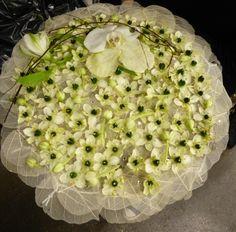 White bridal bouquet - Oslo Spektrum 2015   BLOK.