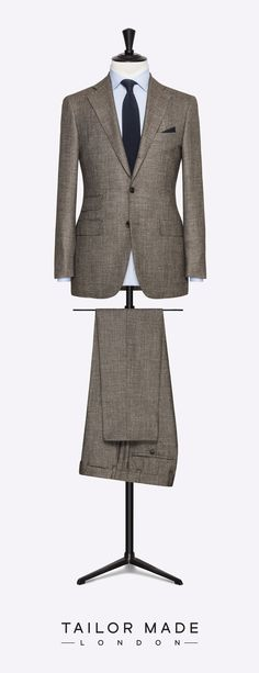 Tailor Made London brown suit. Suit Fashion, Mens Fashion, London Brown, Terno Slim, Suit Combinations, Western Suits, Bespoke Suit, Double Denim, Mode Chic
